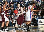 Texas State Bobcats forward Demi Clinch (32) in action during the game between the Texas State Bobcats and the UTA Mavericks held at the University of Texas at Arlington's, Texas Hall, in Arlington, Texas. UTA defeats Texas State 79 to 63