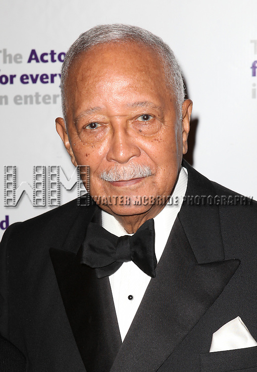David Dinkins.attending the Actors Fund Gala honoring Harry Belafonte, Jerry Stiller, Anne Meara & David Steiner at the Mariott Marquis Hotel in New York City on 5/21/12