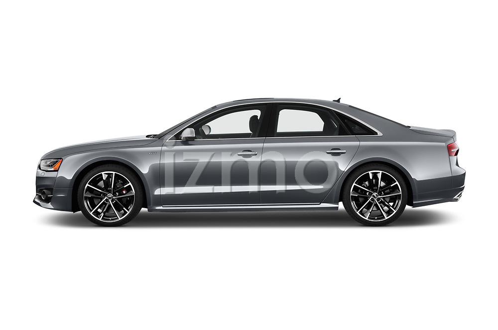 Car driver side profile view of a 2018 Audi S8 Plus quattro Tiptronic 4 Door Sedan