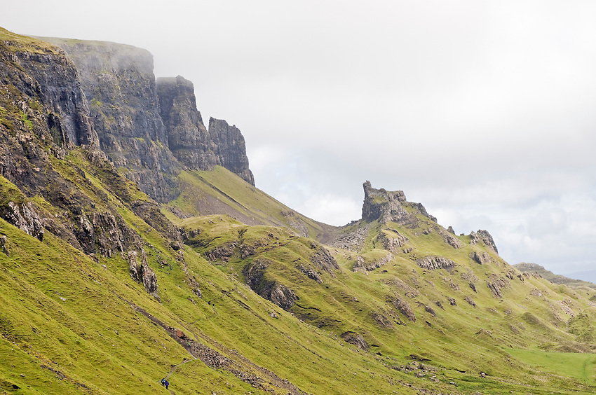 View of the Quiraing, Isle of Skye, looking eastward