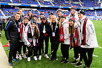 Harrison, NJ - Sunday March 04, 2018: USA Hockey during a 2018 SheBelieves Cup match match between the women's national teams of the United States (USA) and France (FRA) at Red Bull Arena.