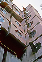 Tokyo: Nakagin --modules. Kisho Kurokowa, architect. Photo '81.