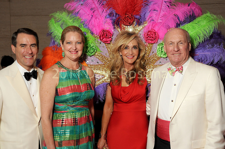 """From left: Steve and Joella Mach with chairs Jana and Scott Arnoldy at the 2016 Houston Symphony Gala """"Carnaval"""" at Jones Hall Saturday May 14,2016(Dave Rossman Photo)"""
