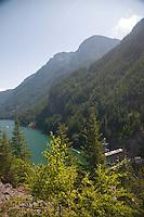Diablo Dam on Diablo Lake, North Cascades National Park, Washington, US