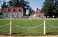 tourists in line to view Mt. Vernon, home of George Washington. tourists. Mt. Vernon Virginia USA.