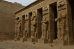 Interior of Temple of Ramses III, Medinat Habu iun Luxor