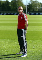 Pictured: Dave Adams, head of academy coaching. Wednesday 14 May 2014<br /> Re: Swansea City FC academy has invited local football coaches to show them coaching techniques at the club's Landore training ground.