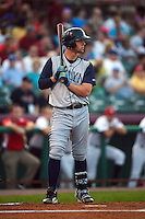Brooklyn Cyclones designated hitter Jeff Diehl (24) at bat during a game against the Tri-City ValleyCats on September 1, 2015 at Joseph L. Bruno Stadium in Troy, New York.  Tri-City defeated Brooklyn 5-4.  (Mike Janes/Four Seam Images)