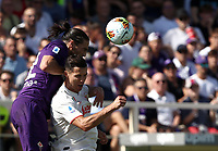Calcio, Serie A: Fiorentina - Juventus, stadio Artemio Franchi Firenze 14 settembre 2019<br /> Juventus' Cristiano Ronaldo (r) in action with Fiorentina's Martin Caceres (l) during the Italian Serie A football match between Fiorentina and Juventus at Florence's Artemio Franchi stadium, September 14, 2019. <br /> UPDATE IMAGES PRESS/Isabella Bontto