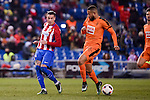 Atletico de Madrid's José María Giménez and SD Eibar's Tiago Manuel Dias during Copa del Rey match between Atletico de Madrid and SD Eibar at Vicente Calderon Stadium in Madrid, Spain. January 19, 2017. (ALTERPHOTOS/BorjaB.Hojas)