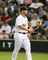 Toby Hall of the Chicago White Sox vs. the Florida Marlins: June 19th, 2007 at Wrigley Field in Chicago, IL.  Photo by Mike Janes/Four Seam Images