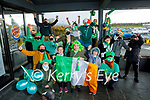 The staff at the Applegreen Food Court in Monor all decked out for their St Patricks Day virtual parade on Saturday.