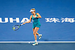 Coco Vandeweghe of United States hits a return during the singles Round Robin match of the WTA Elite Trophy Zhuhai 2017 against Elena Vesnina of Russia at Hengqin Tennis Center on November  02, 2017 in Zhuhai, China.Photo by Yu Chun Christopher Wong / Power Sport Images