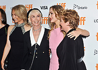 """16 September 2021 - Toronto, Ontario, Canada - Celine Rattray, Trudie Styler, and Camille Griffin. 2021 Toronto International Film Festival - """"Silent Night"""" Premiere held at Roy Thomson Hall. Photo Credit: Brent Perniac/AdMedia"""