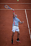 Stefanos Tsitsipas from Greece during the Mutua Madrid Open Masters final match against Novak Djokovic from Serbia on day eight at Caja Magica in Madrid, Spain. Novak Djokovic beat Stefanos Tsitsipas. May 12, 2019. (ALTERPHOTOS/A. Perez Meca)