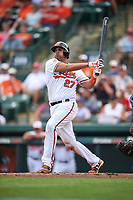 Baltimore Orioles catcher Francisco Pena (27) at bat during a Spring Training exhibition game against the Dominican Republic on March 7, 2017 at Ed Smith Stadium in Sarasota, Florida.  Baltimore defeated the Dominican Republic 5-4.  (Mike Janes/Four Seam Images)
