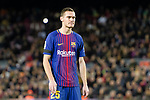 Thomas Vermaelen of barcelona reacts during the La Liga 2017-18 match between FC Barcelona and Deportivo La Coruna at Camp Nou Stadium on 17 December 2017 in Barcelona, Spain. Photo by Vicens Gimenez / Power Sport Images