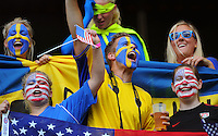 Fans of Sweden and team USA during the FIFA Women's World Cup at the FIFA Stadium in Wolfsburg, Germany on July 6thd, 2011.