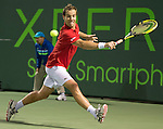 Richard Gasquet (FRA)  loses to Andy Murray (GBR) 6-7, 6-1, 6-2 at the Sony Open being played at Tennis Center at Crandon Park in Miami, Key Biscayne, Florida on March 29, 2013