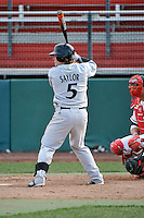 Cincinnati Bearcats catcher Jake Saylor (5)  during a game vs. St. John's Red Storm at Jack Kaiser Stadium in Queens, NY;  March 25, 2011.  St. John's defeated Cincinnati 3-2.  Photo By Tomasso DeRosa/Four Seam Images