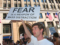 United for Peace with Justice Protesting Bush at the Republican Convention in New York City 8.29.04
