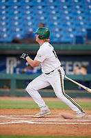Blake Burke (17) of De La Salle High School in Brentwood, CA during the Perfect Game National Showcase at Hoover Metropolitan Stadium on June 20, 2020 in Hoover, Alabama. (Mike Janes/Four Seam Images)
