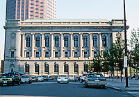 Cleveland: Old Federal Building, 1905-1911. Arch. Arnold W. Brunner. North facade. Classical Revival style. Southwest anchor of Group Plan facing Mall. Photo '01.