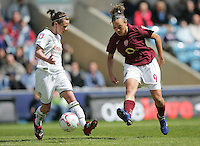 Arsenal vs Leeds United - Womens FA Cup Final at Millwall Football Club - 01/05/06 - Arsenal's Lianne Sanderson (right) pushes the ball forwards - (Gavin Ellis 2006)