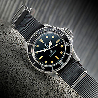 BNPS.co.uk (01202) 558833. <br /> Pic: Fellows/BNPS<br /> <br /> Pictured: The Rolex Submariner 5513. <br /> <br /> A former British Army diver is selling the wristwatch he wore during the raising of the Mary Rose for £26,000.<br /> <br /> Corporal Peter Melhuish, of the Royal Engineers, had the Rolex Submariner 5513 on when Henry VIII's famous warship was lifted from The Solent in 1982.<br /> <br /> He also wore the diver's wristwatch during operations off the Falkland Islands after Britain and Argentina went to war that year.<br /> <br /> Peter, from Tunbridge Wells, Kent, has owned the timepiece since 1979 and put it on regularly up until five years ago. Since then, it has been kept in his sock drawer and he has now decided to sell it with Fellows Auctioneers, of Birmingham.