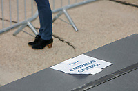 """A sign reads """"Campaign Camera"""" on the press riser at a Make America Great Again Victory Rally in the final week before the Nov. 3 election at Pro Star Aviation in Londonderry, New Hampshire, on Sun., Oct. 25, 2020."""