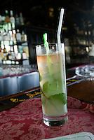 Cuba,  Mojito in Bar in DuPont-Villa Xanadu in Varadero, Provinz Mantanzas
