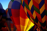 An early morning launch of part of the 700 balloons that take part in the Albuquerque, New Mexico balloon festival. The festival is the world's largest hot air balloon fest and takes place in October.