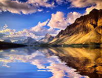 Bow Lake reflection. Banff National Park, Canada