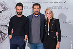 (L to R) Javier Rey, Daniel Calprsoro and Belen Rueda attend the photocall of presentation of film 'El Silencio de la Ciudad Blanca' in Madrid. October 23, 2019 (Alterphotos/ Francis Gonzalez)