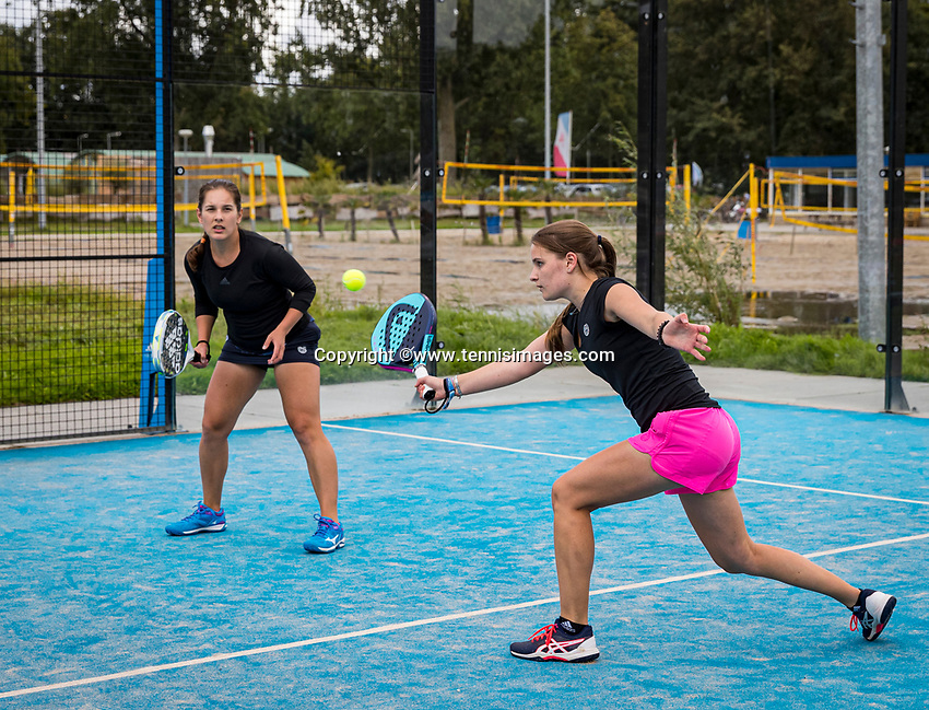 Netherlands, September 5,  2020, Amsterdam, Padel Dam, NK Padel, National Padel Championships, Maaike Betz (NED) and Anastasiya Mulder (NED)<br /> Photo: Henk Koster/tennisimages.com