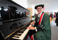 Pictured: Musician and radio presenter Mal Pope who has been awarded an honorary fellowship by the Metropolitan University, during a ceremony at the Grand Theatre in Swansea south Wales. Friday 15 July 2011