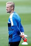 Leicester City FC's Kasper Schmeichel during training session. April 11, 2017.(ALTERPHOTOS/Acero)