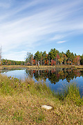Pawtuckaway State Park in Nottingham, New Hampshire during the autumn months.