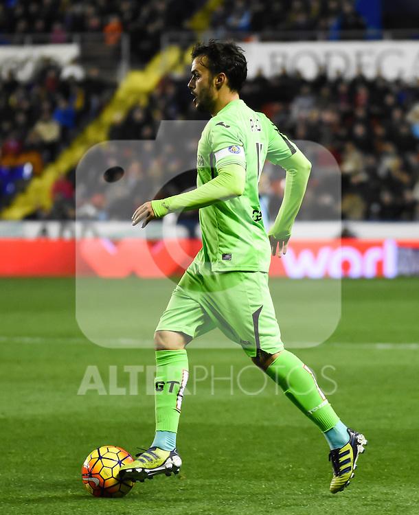 Getafe's P. Leon   during La Liga match. February 19, 2016. (ALTERPHOTOS/Javier Comos)