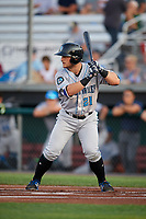 Hudson Valley Renegades designated hitter Erik Ostberg (21) at bat during a game against the Auburn Doubledays on September 5, 2018 at Falcon Park in Auburn, New York.  Hudson Valley defeated Auburn 11-5.  (Mike Janes/Four Seam Images)