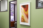 Framed Fuji Supergloss print at a financial institution in Los Angeles, California