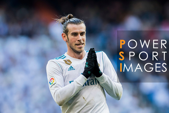 Gareth Bale of Real Madrid reacts during the La Liga 2017-18 match between Real Madrid and RC Deportivo La Coruna at Santiago Bernabeu Stadium on January 21 2018 in Madrid, Spain. Photo by Diego Gonzalez / Power Sport Images