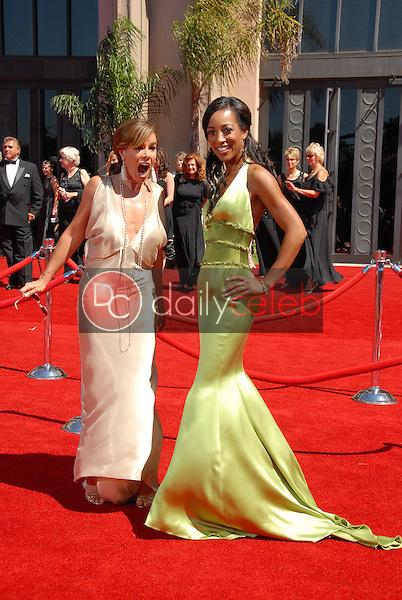 Melissa Rivers and Shaun Robinson<br />arriving at the 58th Annual Primetime Emmy Awards. The Shrine Auditorium, Los Angeles, CA. 08-27-06<br />Scott Kirkland/DailyCeleb.com 818-249-4998