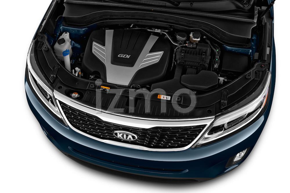 High angle engine detail of a  2014 KIA Sorento EX2014 KIA Sorento EX
