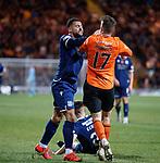 08.11.2019 Dundee v Dundee Utd: Kane Hemmings and Jamie Robson