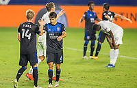 CARSON, CA - OCTOBER 14: Shea Salinas #6 of the San Jose Earthquakes during a game between San Jose Earthquakes and Los Angeles Galaxy at Dignity Heath Sports Park on October 14, 2020 in Carson, California.