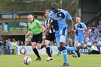John Akinde of Wycombe Wanderers, on loan from Bristol City, in action during Wycombe Wanderers vs Notts County, Coca Cola League Division Two Football at Adams Park on 2nd May 2009