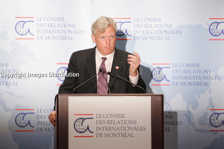 Montreal (QC) CANADA, June 13, 2007 -<br /> <br /> David Miller, Mayor, Toronto adress the members of the CORIM in Montreal, June 13, 2007<br /> <br /> photo : Roussel  - Images Distribution