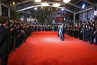 Jean-Louis trintignant sur le tapis rouge pour la projection du film HAPPY END lors du soixante-dixième (70ème) Festival du Film à Cannes, Palais des Festivals et des Congres, Cannes, Sud de la France, lundi 22 mai 2017.