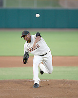 Kelvin Marte / AZL Giants pitching against the AZL Royals at Scottsdale Stadium - 08/17/1008..Photo by:  Bill Mitchell/Four Seam Images